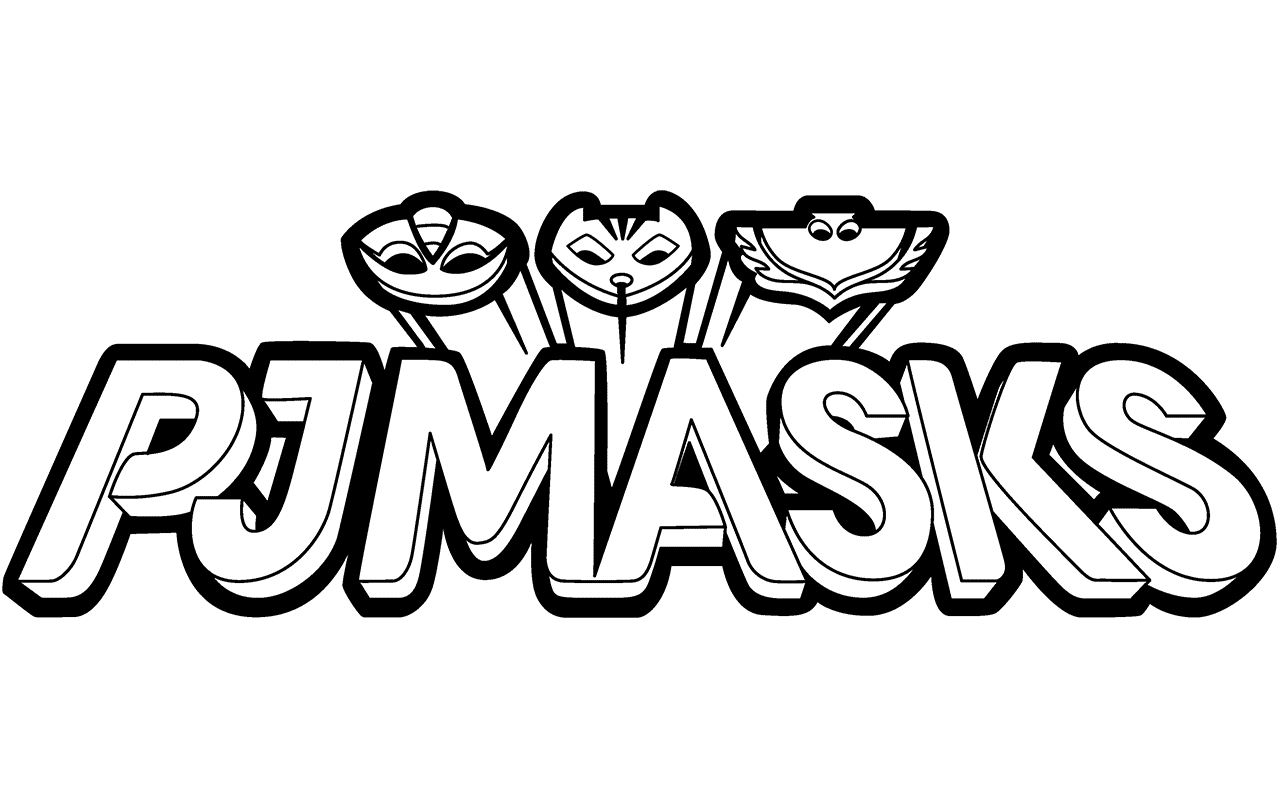 Pj masks coloring pages. Mask clipart symbol svg library library