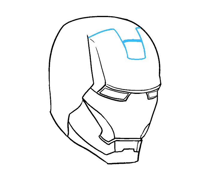 Masks drawing. How to draw iron