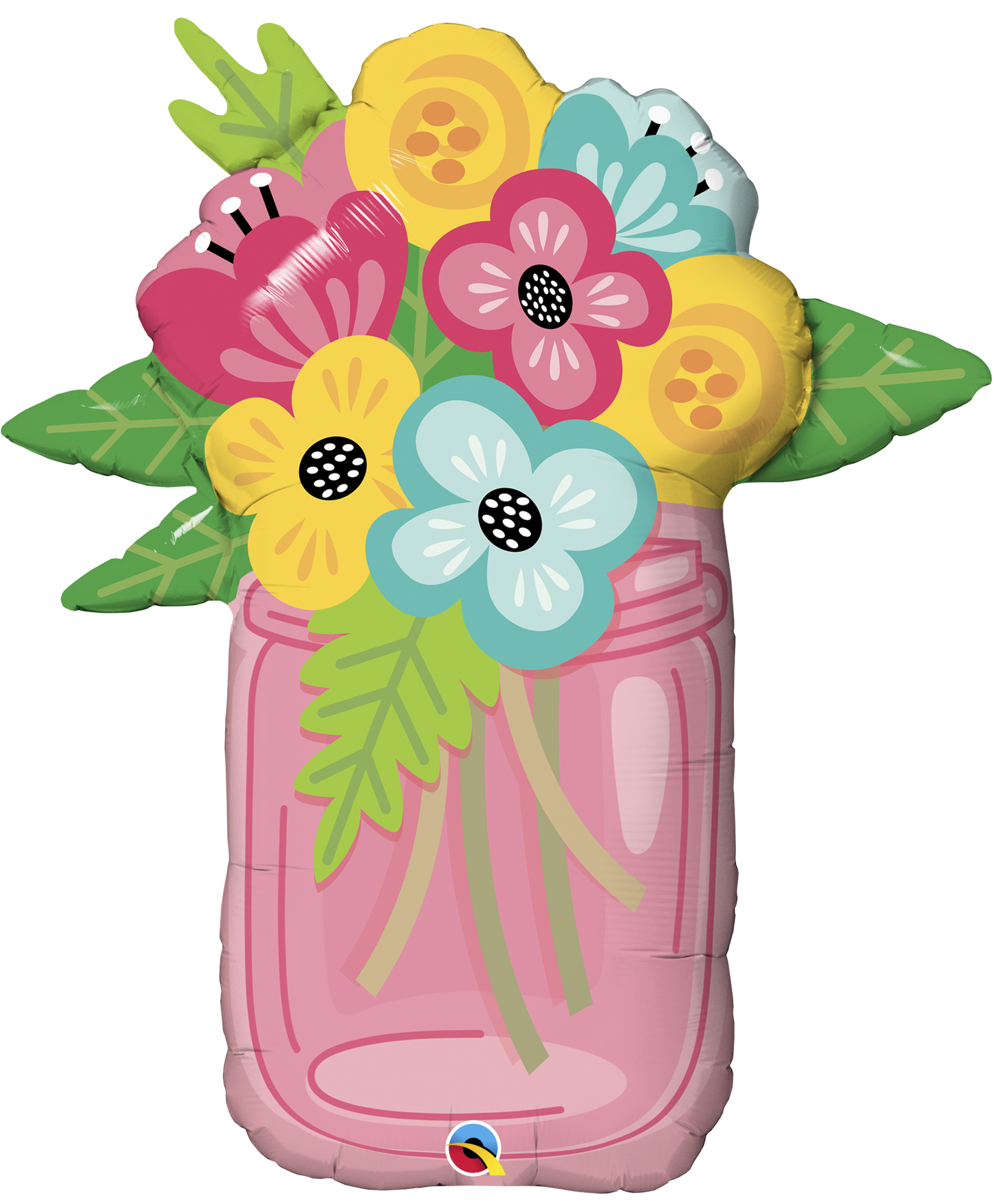 shape foil bouquet. Mason jar with flowers png royalty free stock