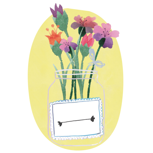 Mason jar bouquet clipart png. Flowers and psd file
