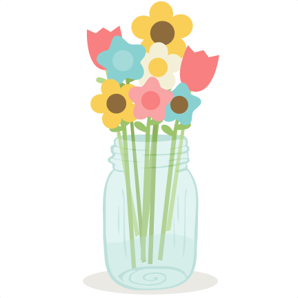 Mason jar flowers png. In svg cutting files
