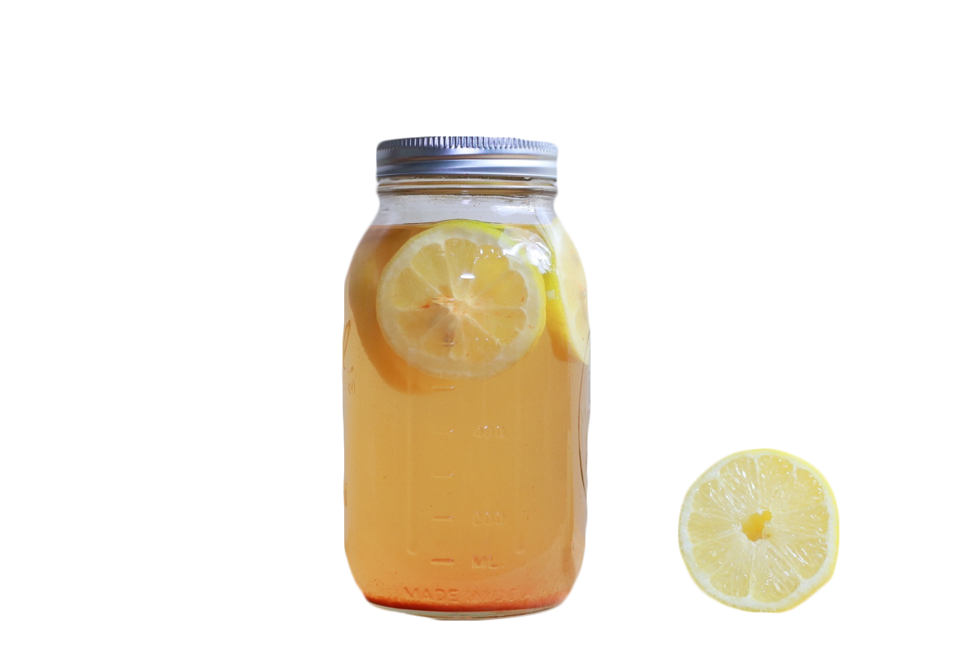Mason jar drink png. Orange lemonade transprent free