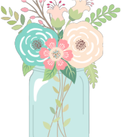 Download love clipart with. Mason jar flowers png banner transparent download
