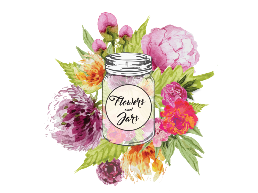 Mason jar flowers png. Jars posy and