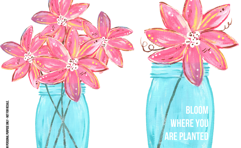 Mason jar flowers png. Paper drawing clip art