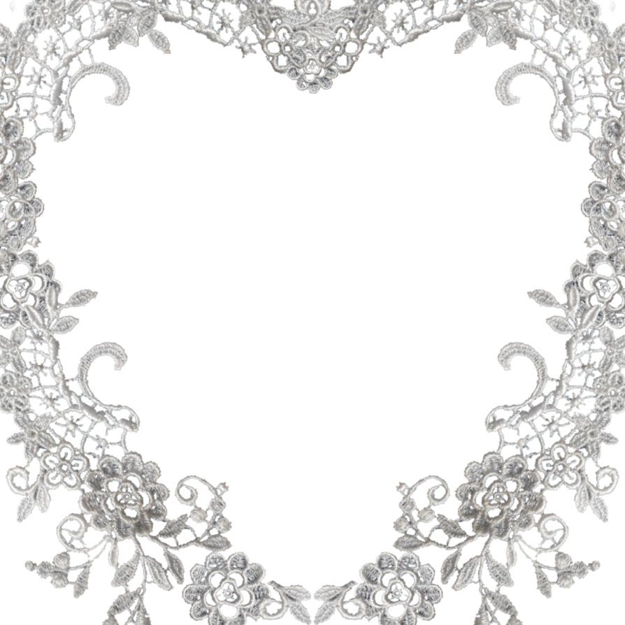 Lace heart png