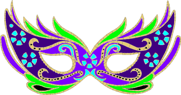 Purple green blue fnc. Masquerade mask clipart png graphic free