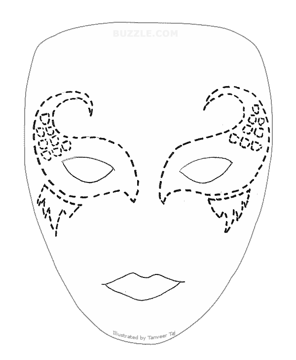 Drawing halloween mask. Create your own look