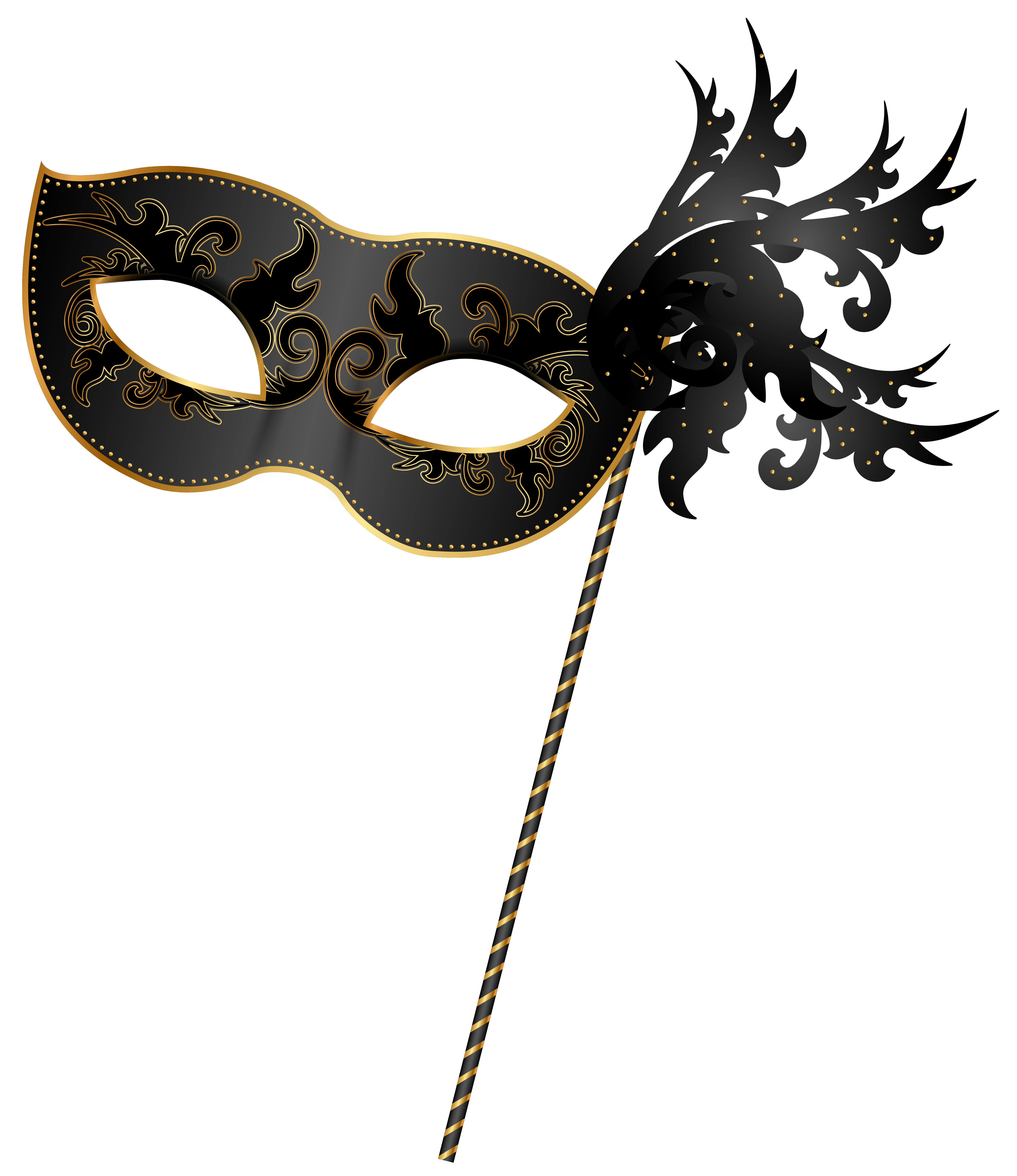 Masquerade mask silhouette png. Carnival clip art image