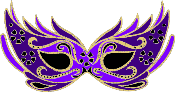 Purple Masquerade Mask Clip Art at Clker