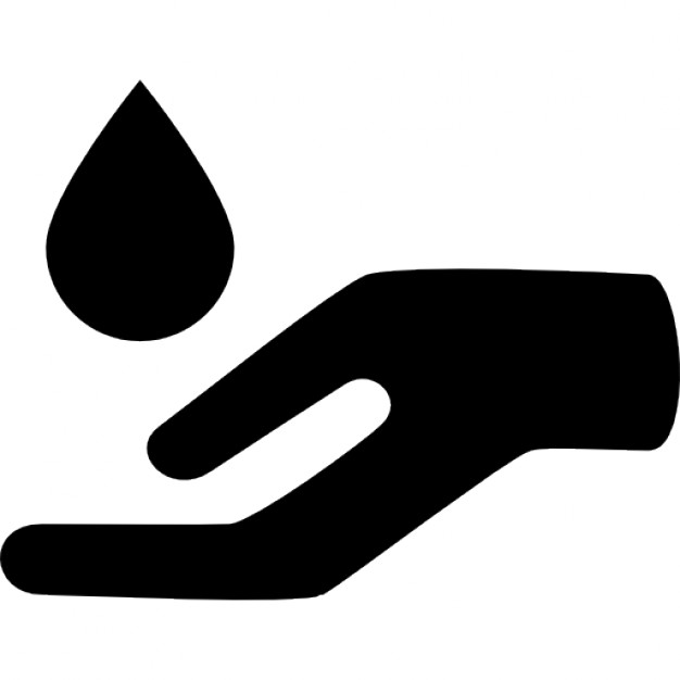 Massage clipart hand icon. Essential oil drop for