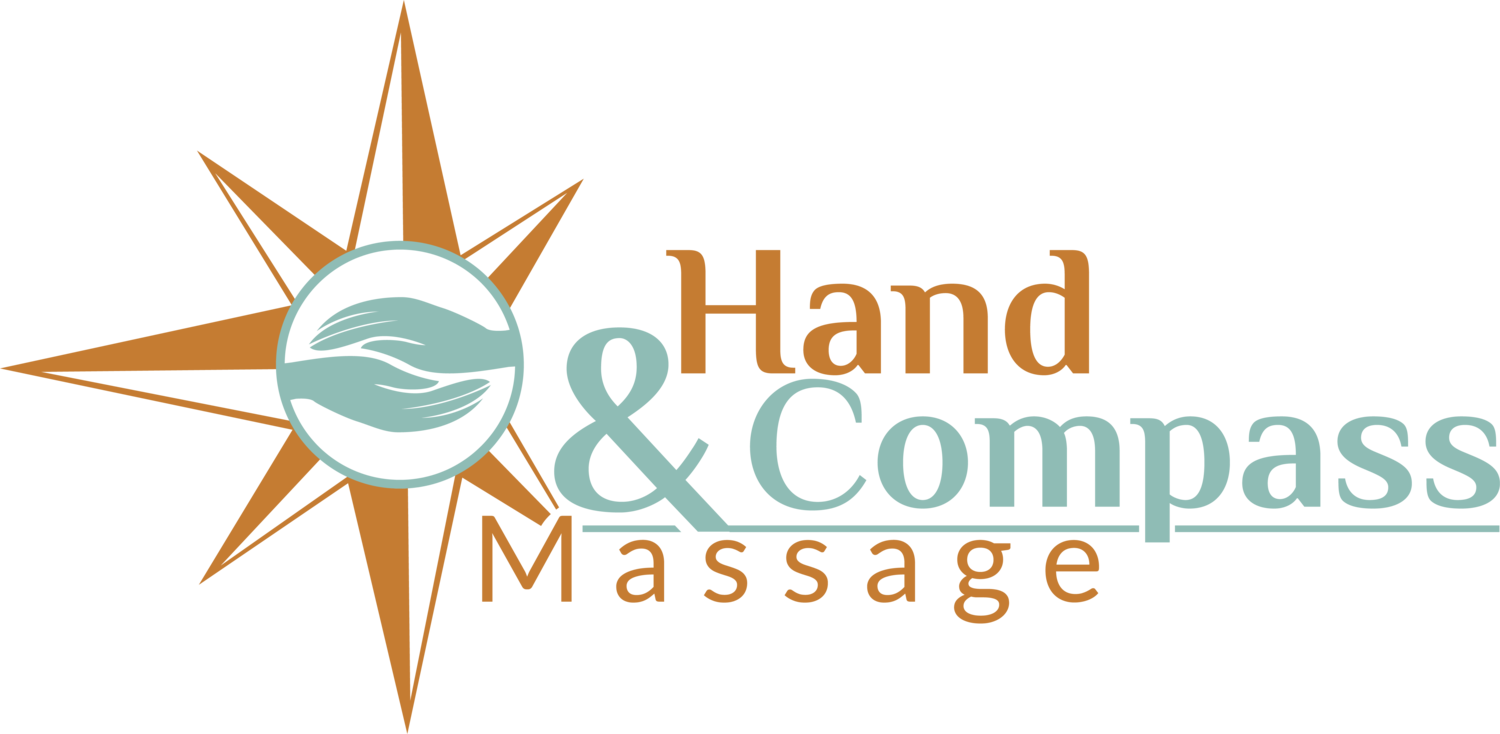 Massage vector hand. Compass