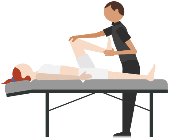 Massage vector remedial. Table clip free