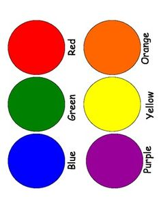 Mat clipart color. Learning colors printable pinterest