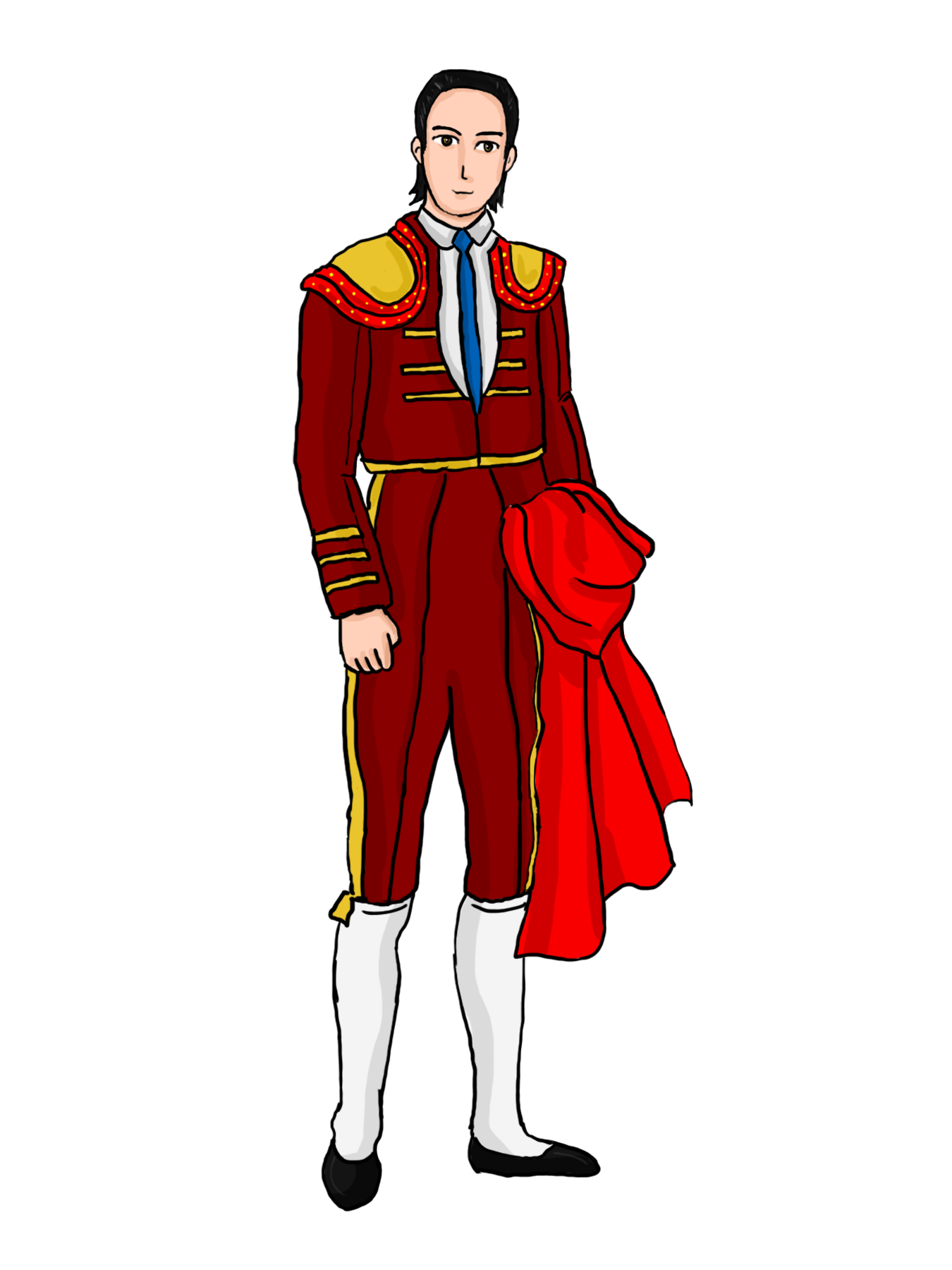 Matador drawing outfit. Clipart transparent free on
