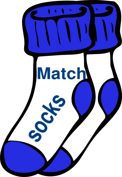 Sock clip. Matching socks clipart