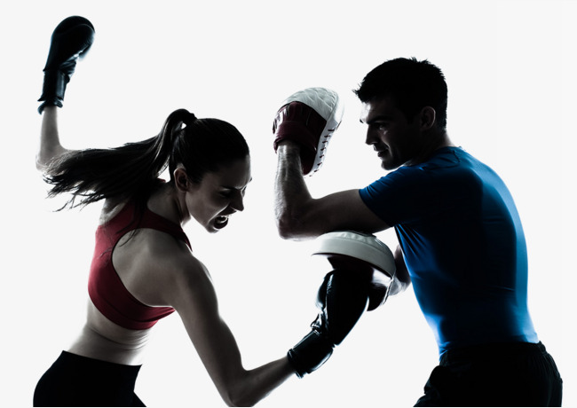 Match clipart boxing. Two men and women