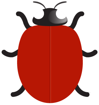Match clipart ladybug number. Ladybird spots counting matching