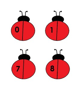 Match clipart ladybug number. Matching counting activity for