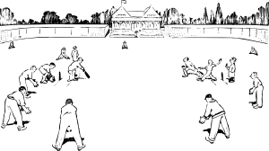 Match drawing. Cricket game clip art