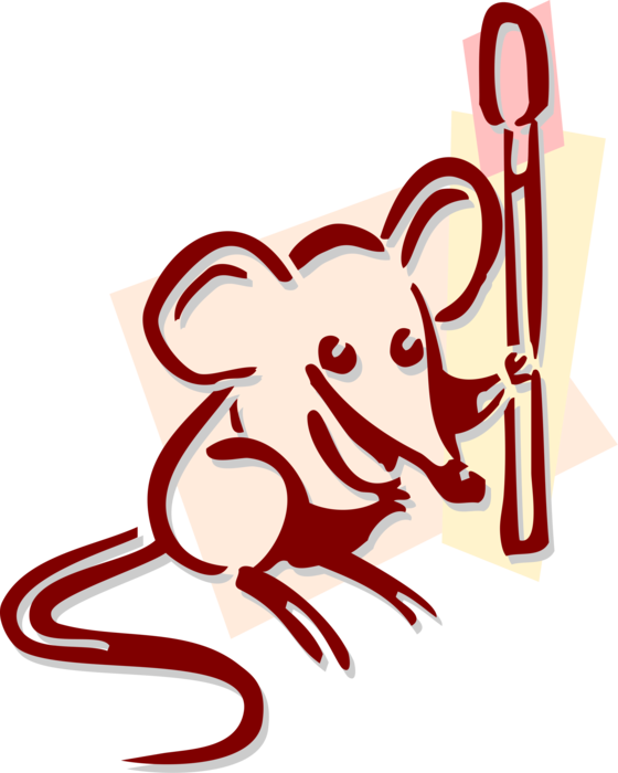 Match vector. Rodent mouse with image