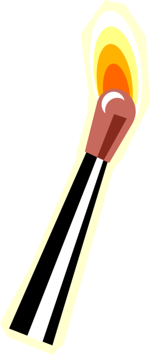 Match vector. Igniting image illustration of