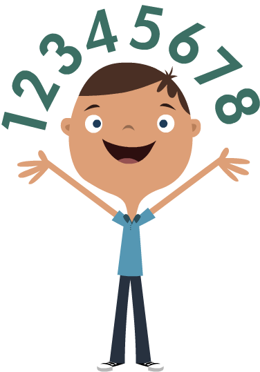 Kids math png. Cartoon image