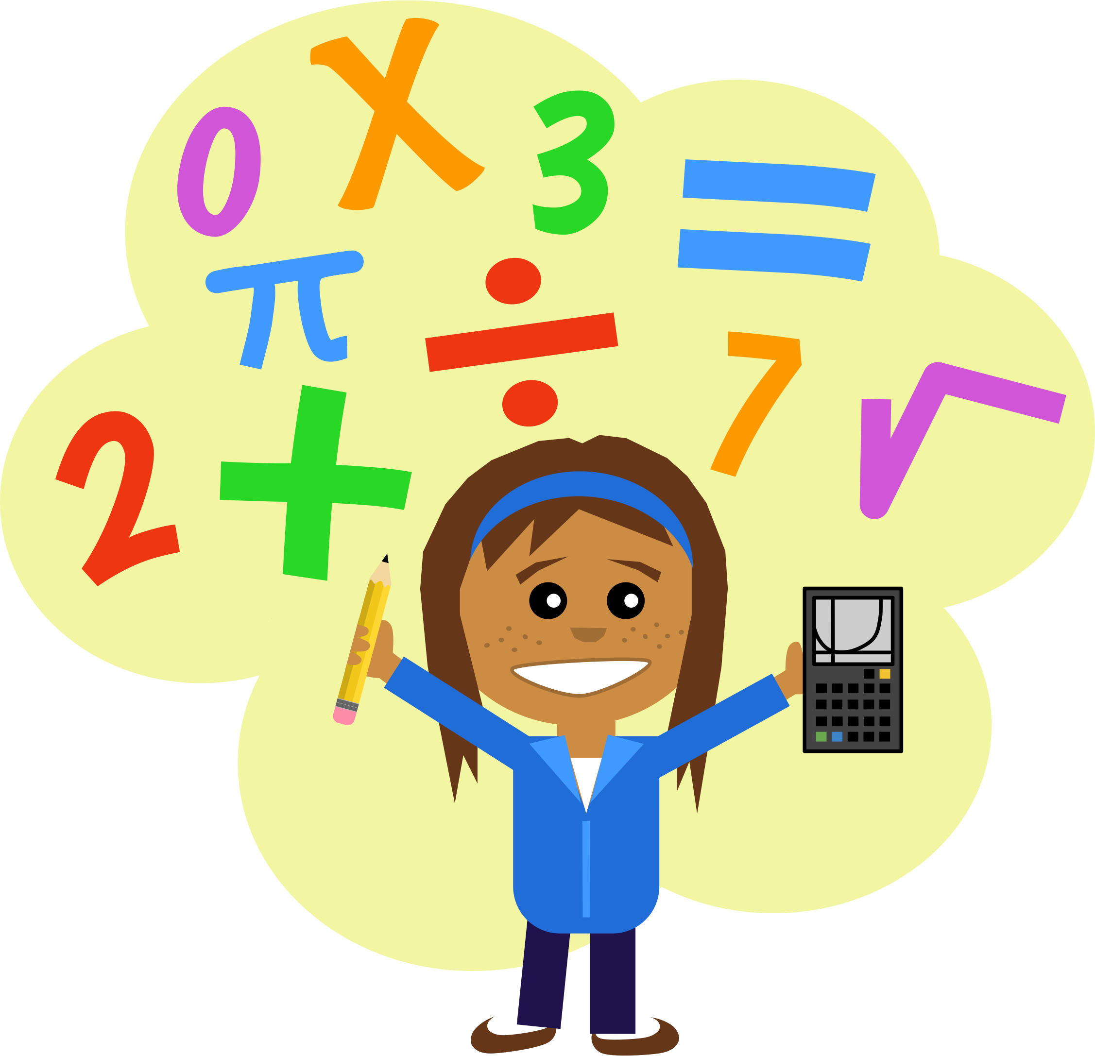 Kids math png. Collection of clipart