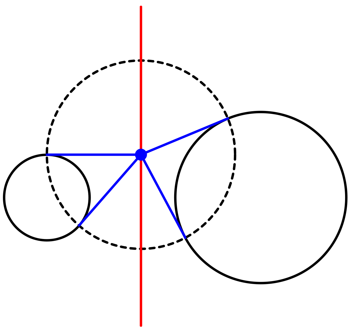 Mathematical drawing concentric. Radical axis wikipedia