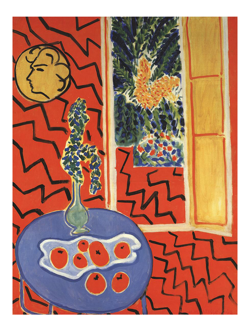Matisse drawing chapel. Interieur rouge henri