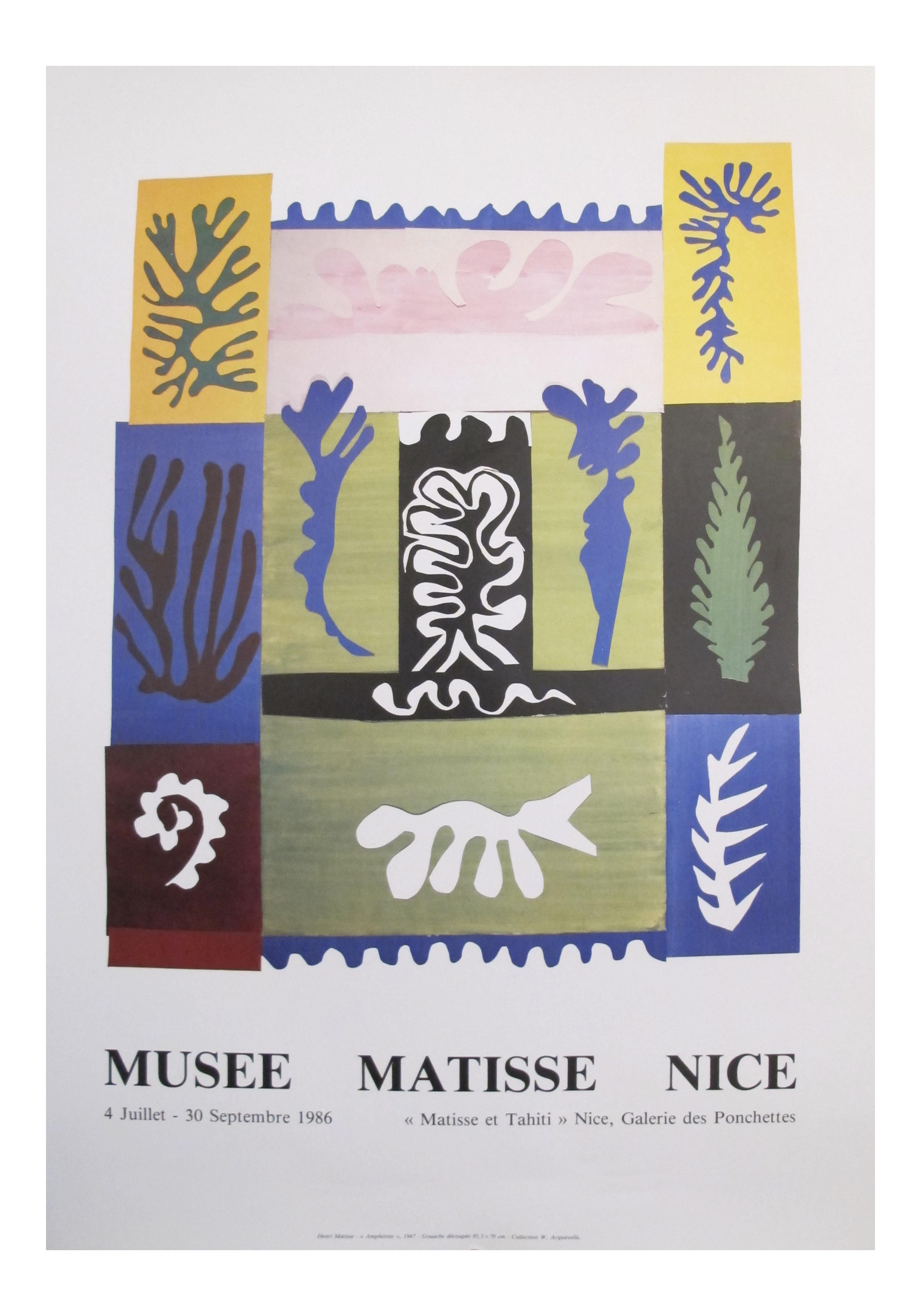 Matisse drawing cut out. Original exhibition poster chairish