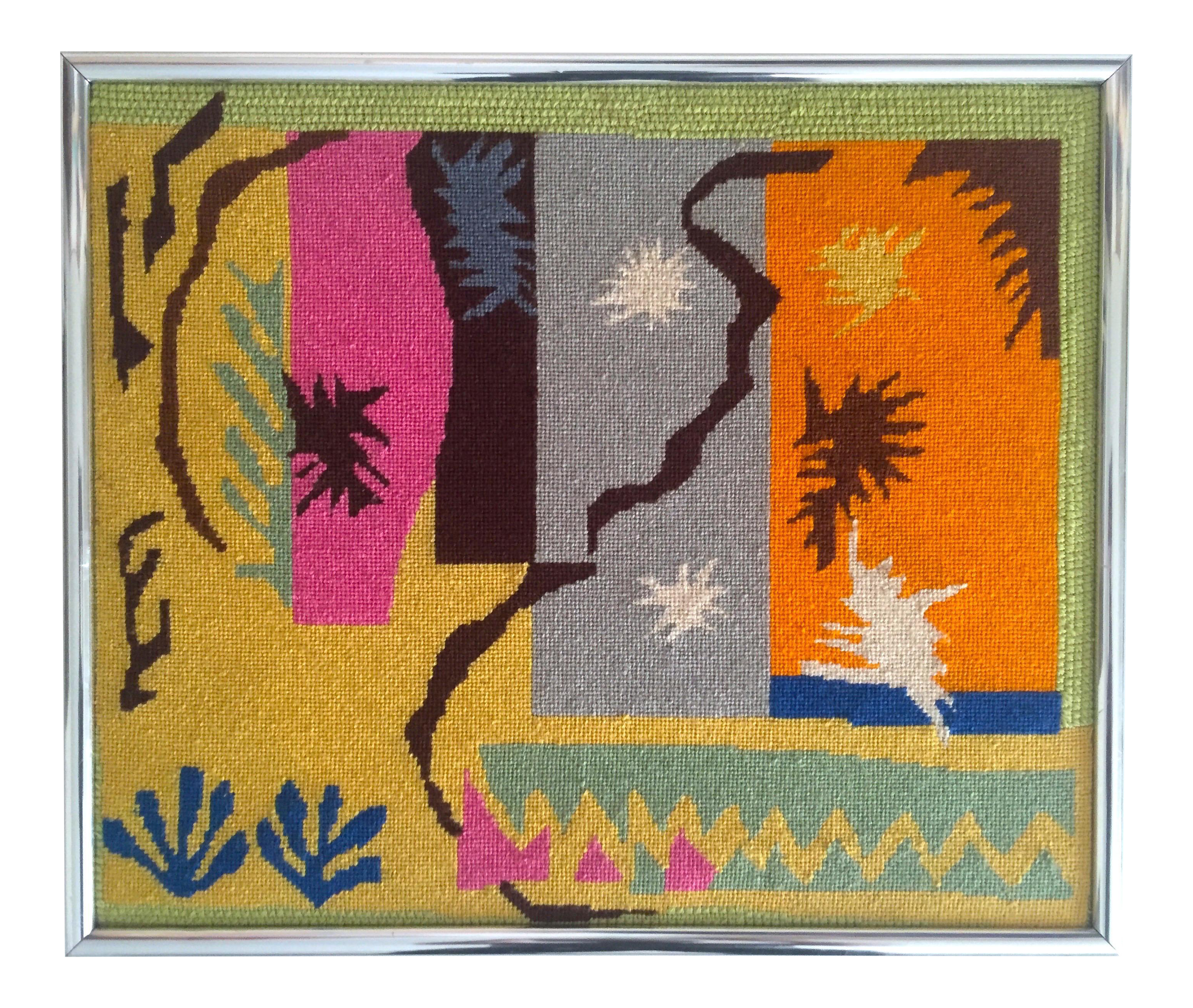 Matisse drawing famous. Vintage mid century modern
