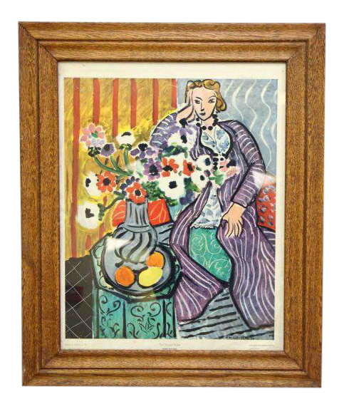 Matisse drawing room. Framed painting from baltimore