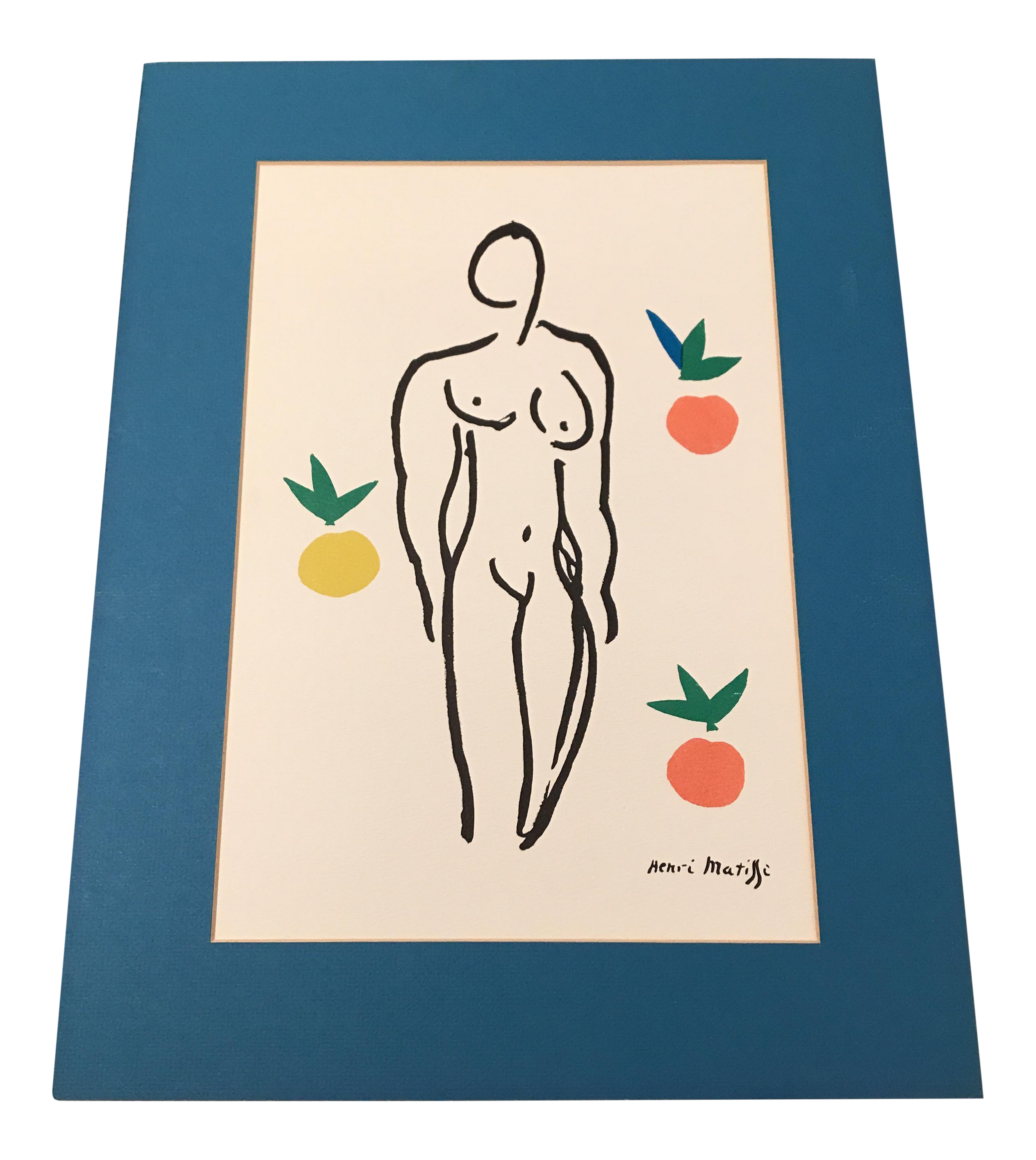 Matisse drawing paper. Matted color print chairish
