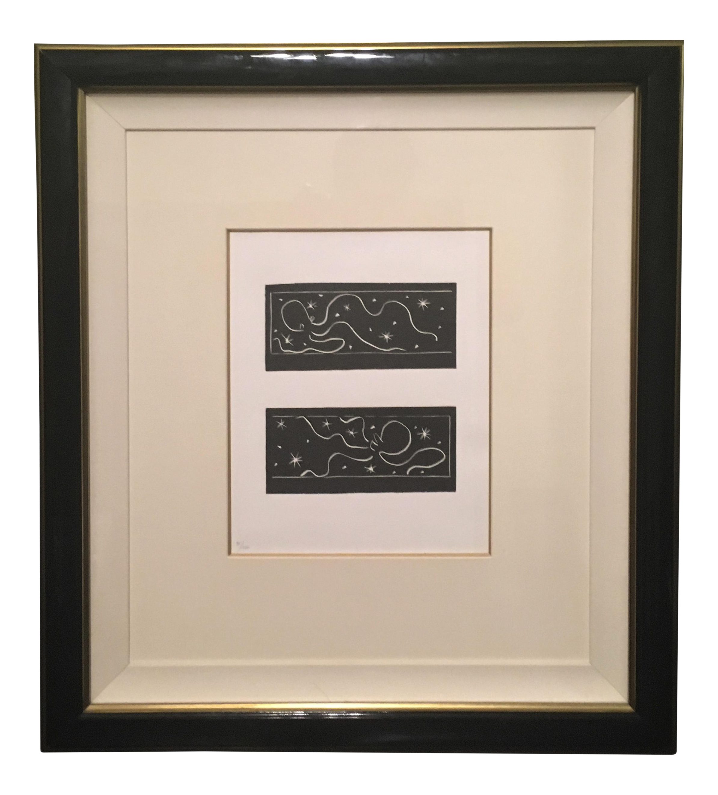 Matisse drawing window. Linocuts from pasiphae by