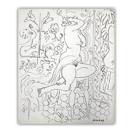 Before and after gallery. Matisse drawing banner library download