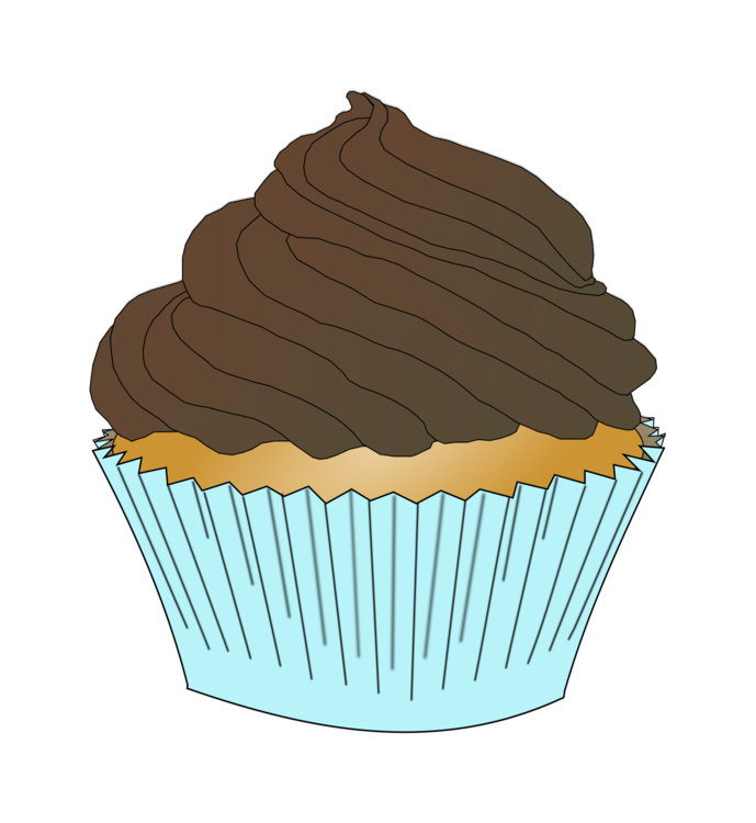 Muffin clipart cupcake design. Frosting icing chocolate cake
