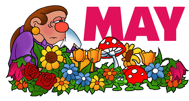 May clipart month year. Free clip art images