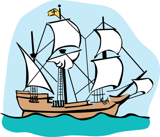 Columbus clipart mayflower. Free silhouttee cliparts download