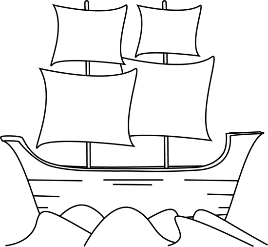 Columbus clipart mayflower. Free cliparts download clip