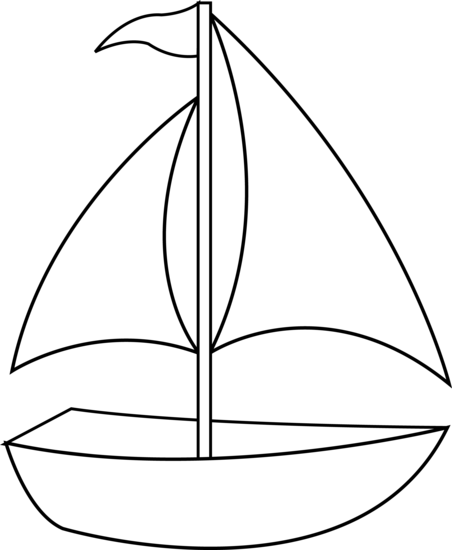 Sail clipart sunset. Sailboat clip art colorable