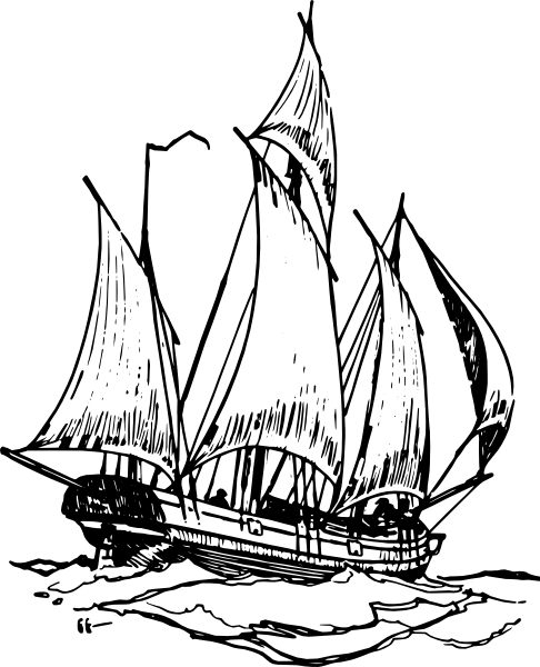 Sail clipart fleet ship. Clip art black and