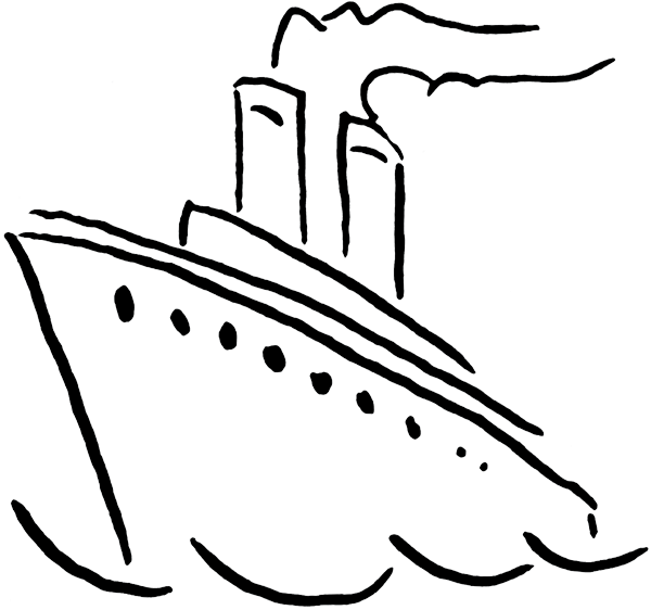 cruise drawing ship line