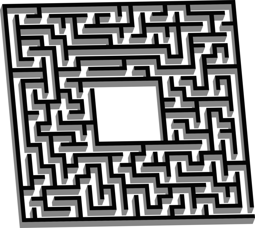 Pattern clipart classic. Labyrinth d maze the