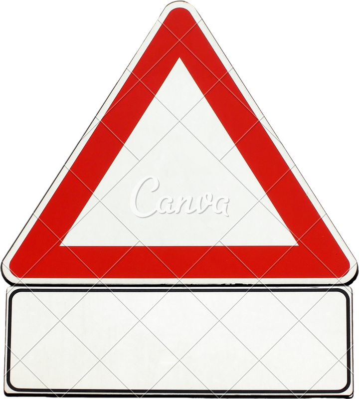 Maze clipart blank. Generic caution sign isolated