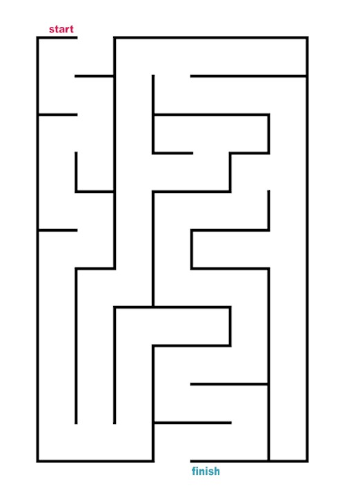 Maze clipart blank. Easy coloring pages printable
