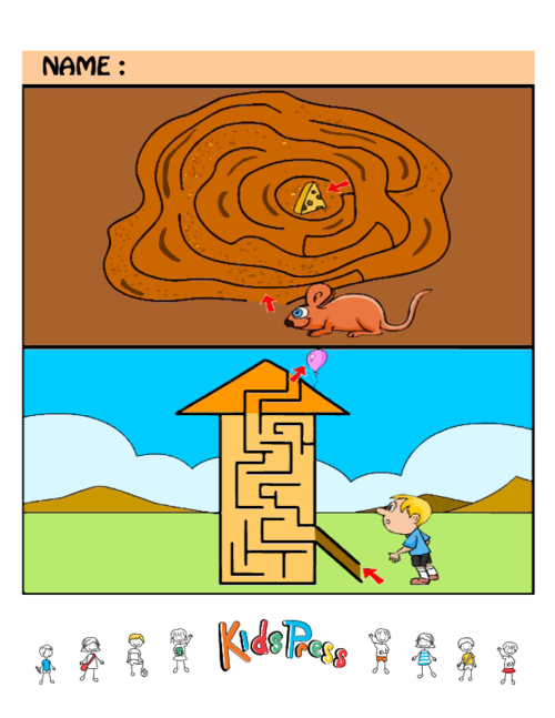 Maze clipart brain. Easy puzzles worksheets games