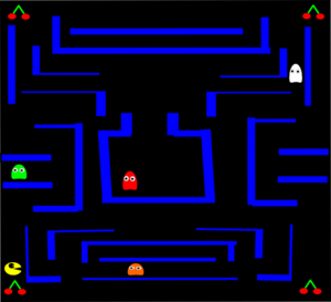 Maze clipart pacman. Ghosts clip art at