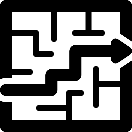 Maze clipart pathway. Out of the icons