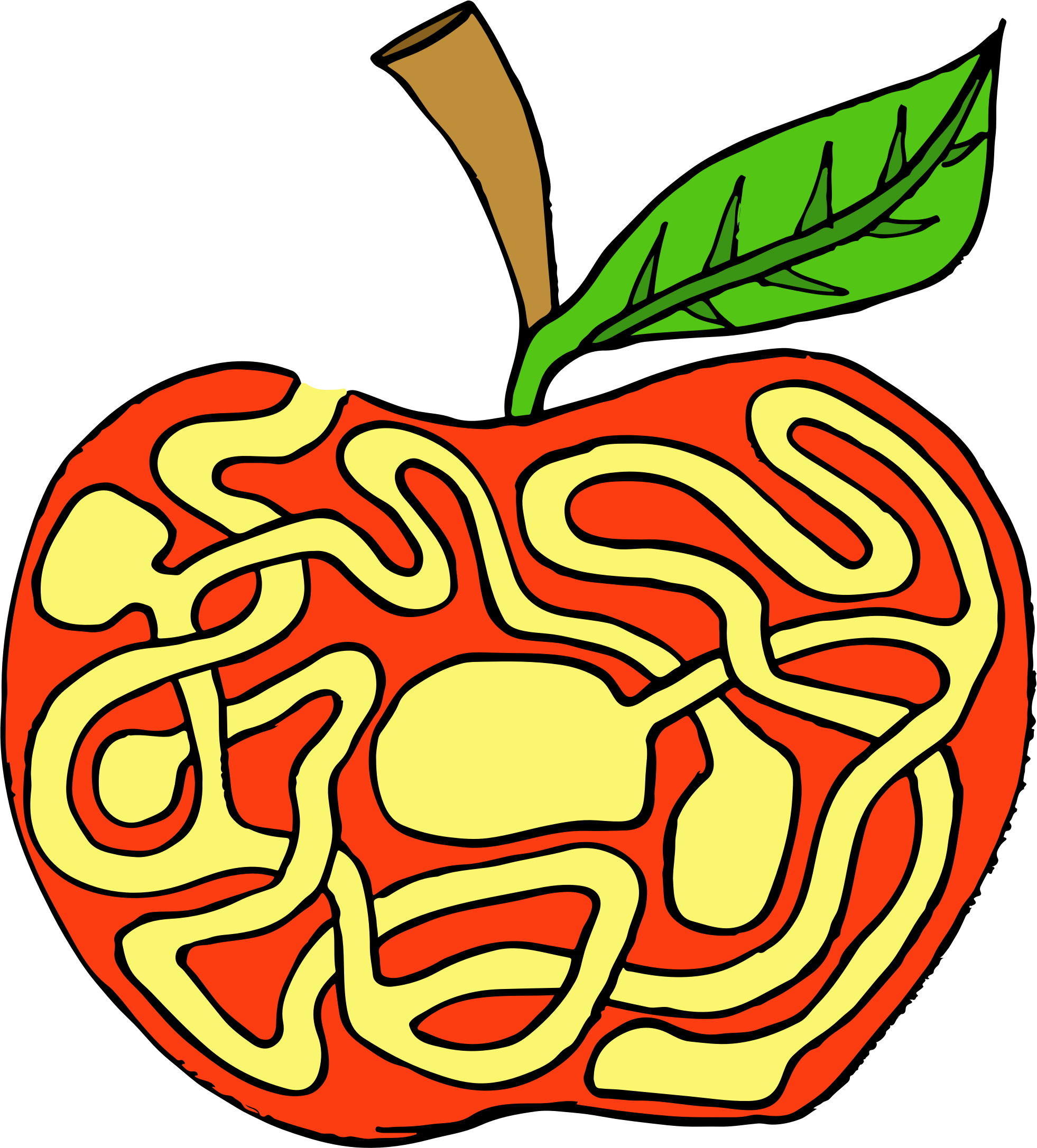 Apple labyrinth big image. Maze clipart pathway free download